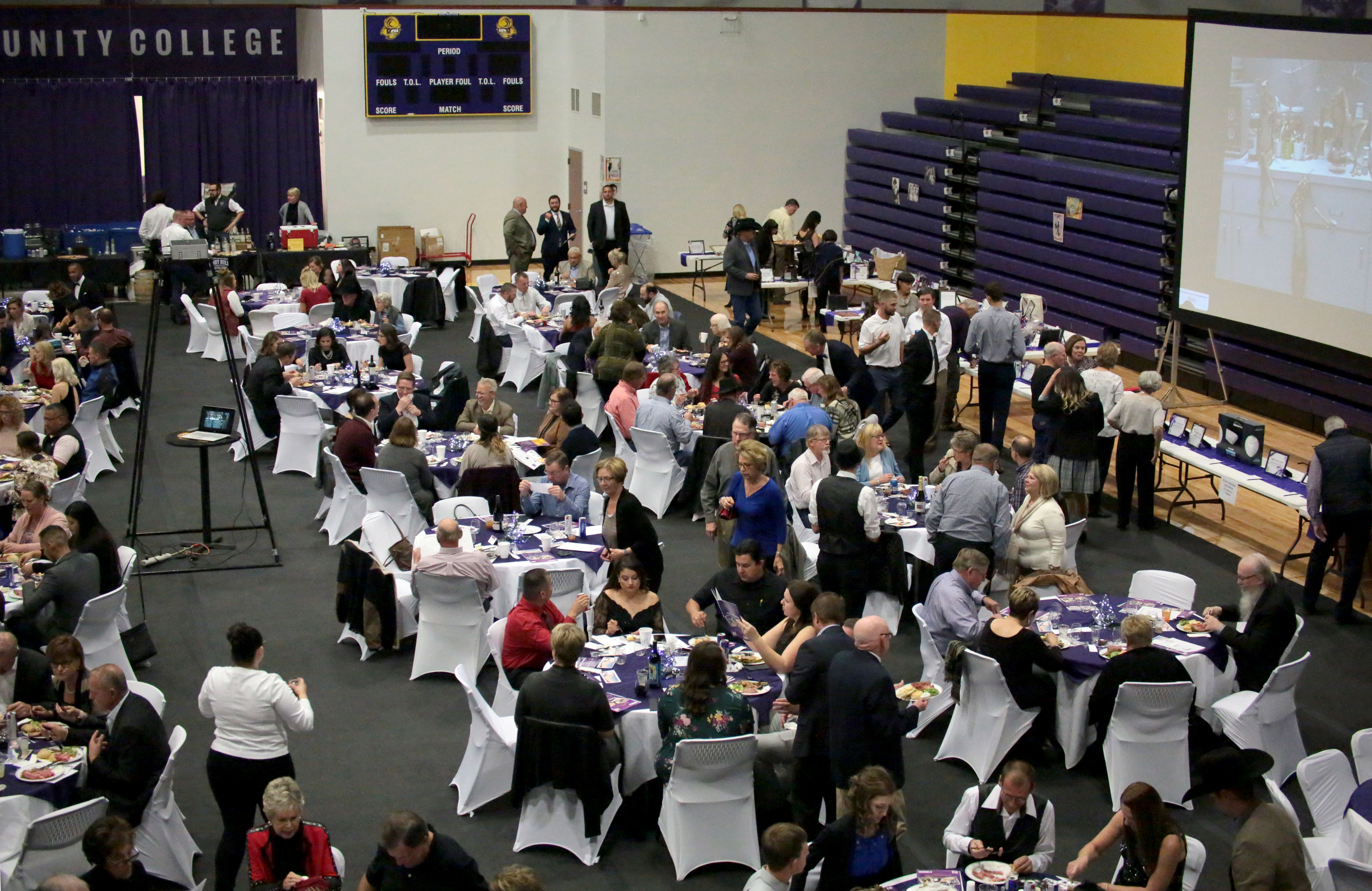 The DC3 Student Activity Center filled with college supporters during the 2018 DC3 Foundation Gala Dinner and Auction