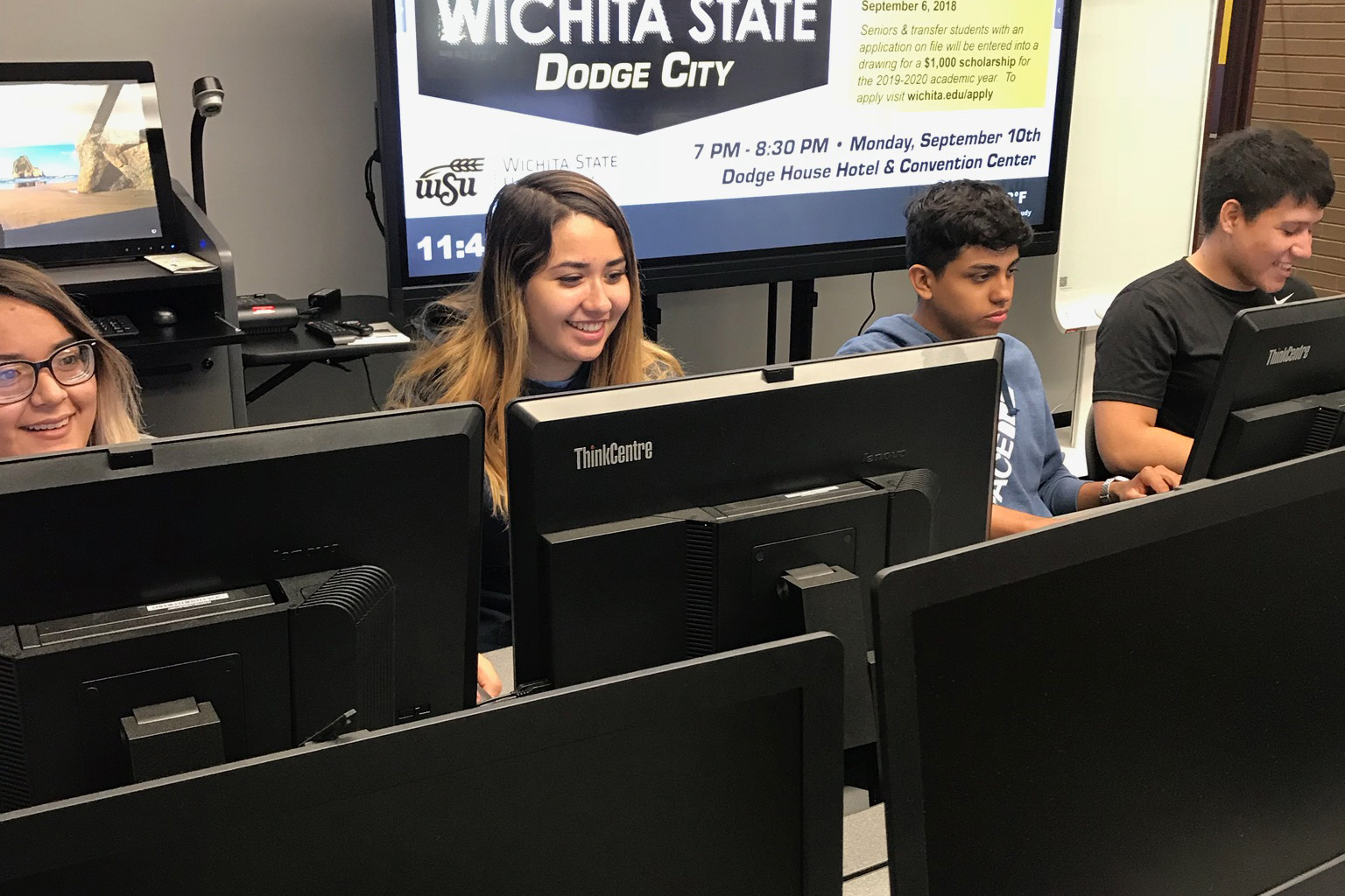 Students utilize the resources of the DC3 Connection Center