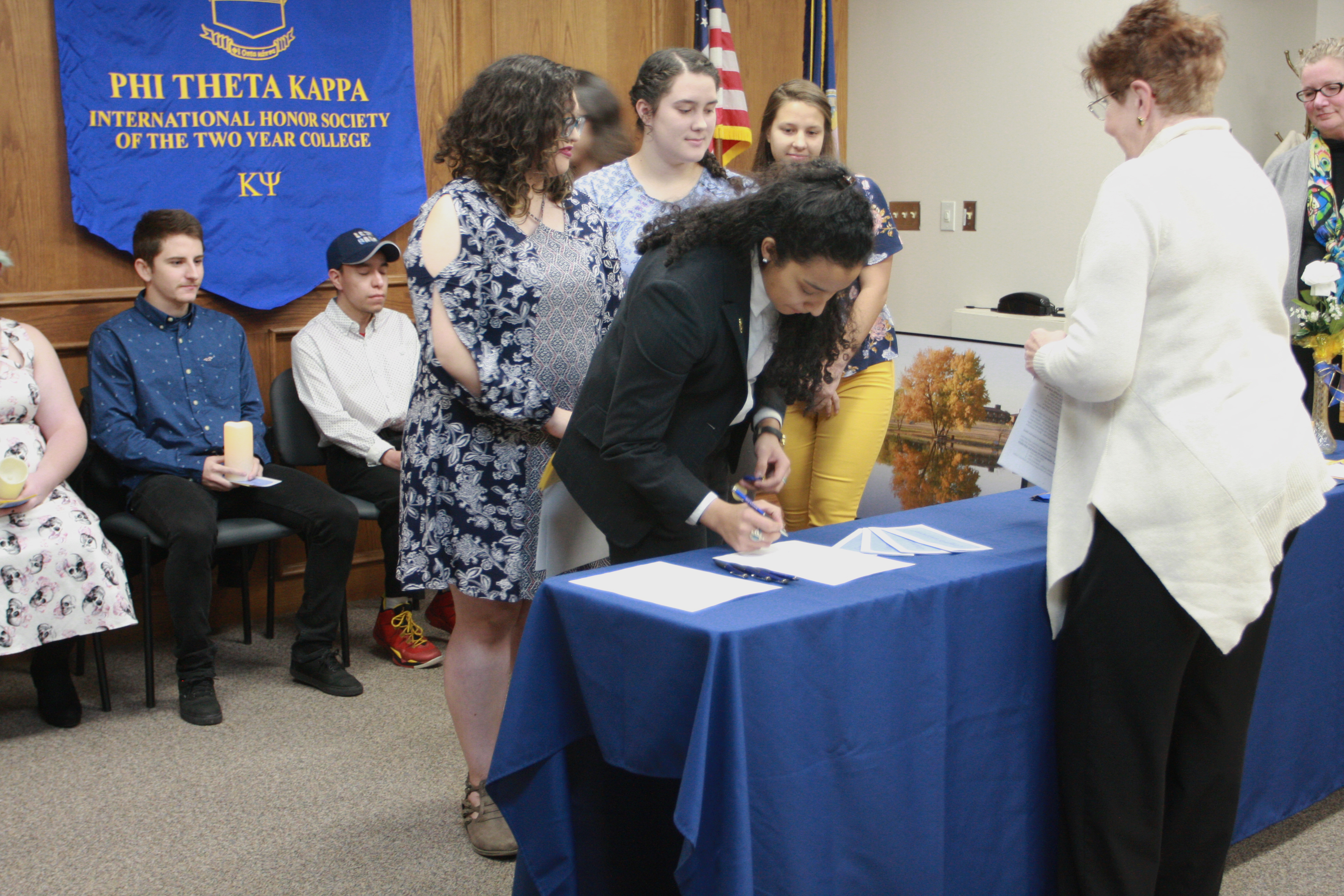 PTK officers sign their pledge of office