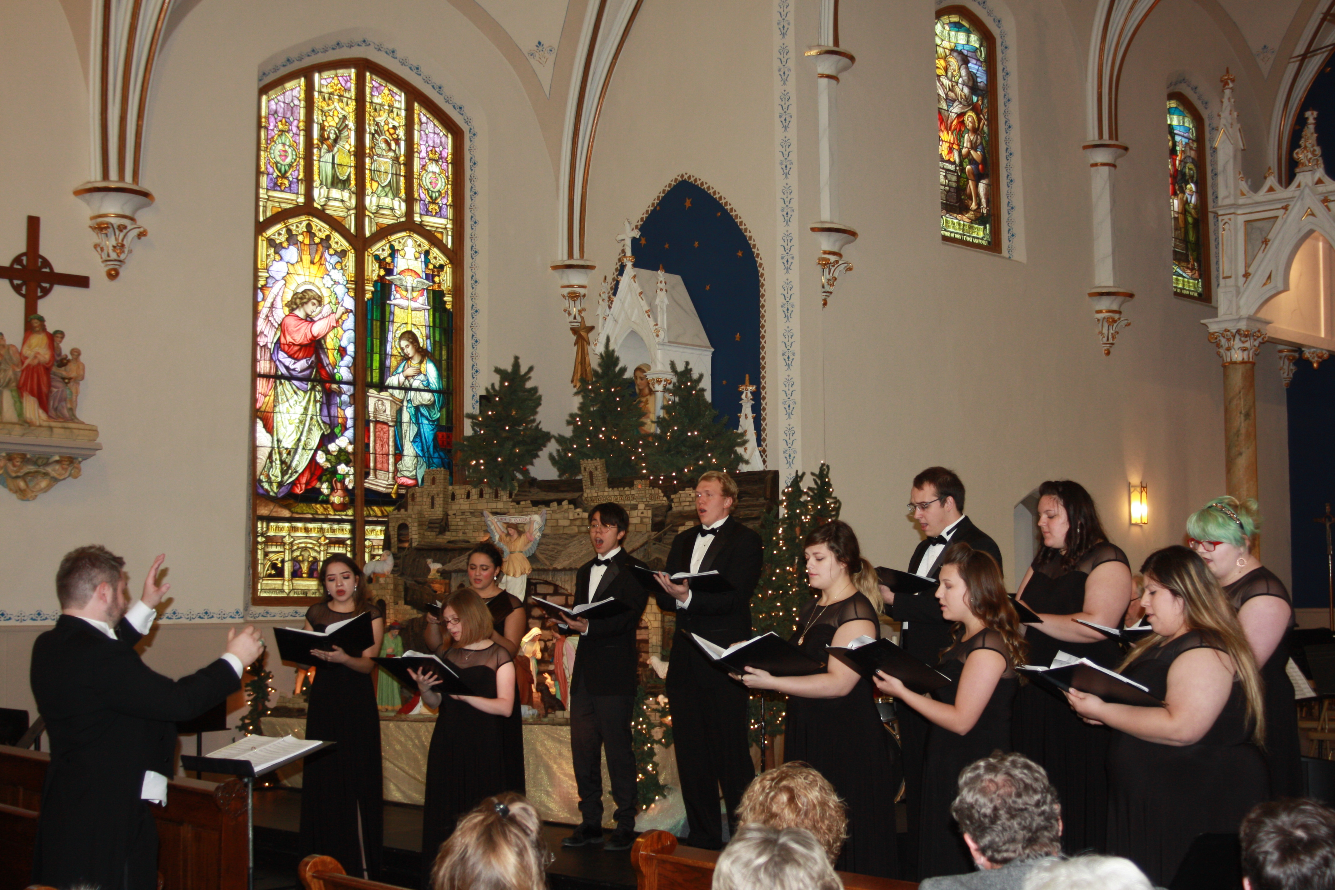 College Singers perform during the Holiday Concert at Windthorst