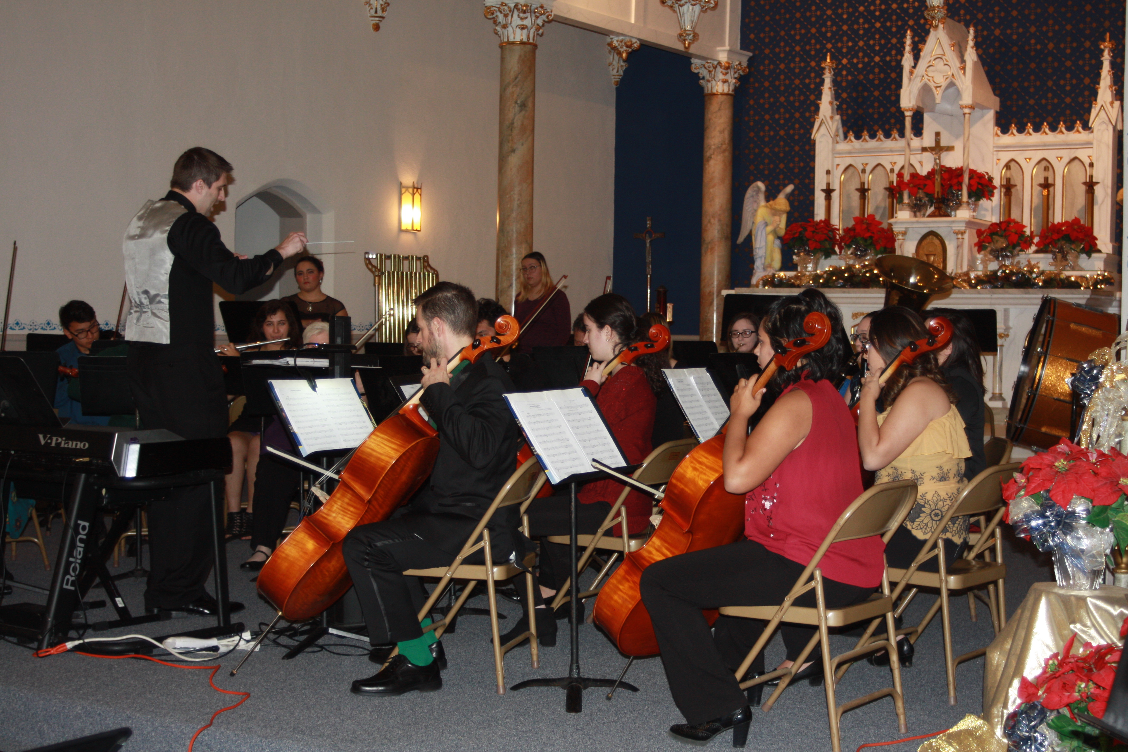 Instrumental selections performed during the Holiday Concert