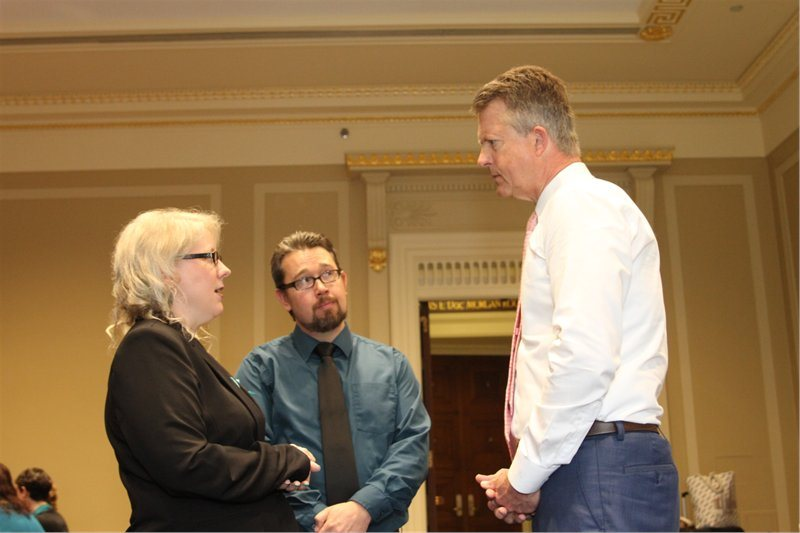 PCOS Advocates Sara & Justin Wilson meet with Kansas First District Congressman Roger Marshall in Washington, DC