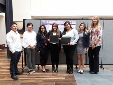 DC3 students stand to accept award