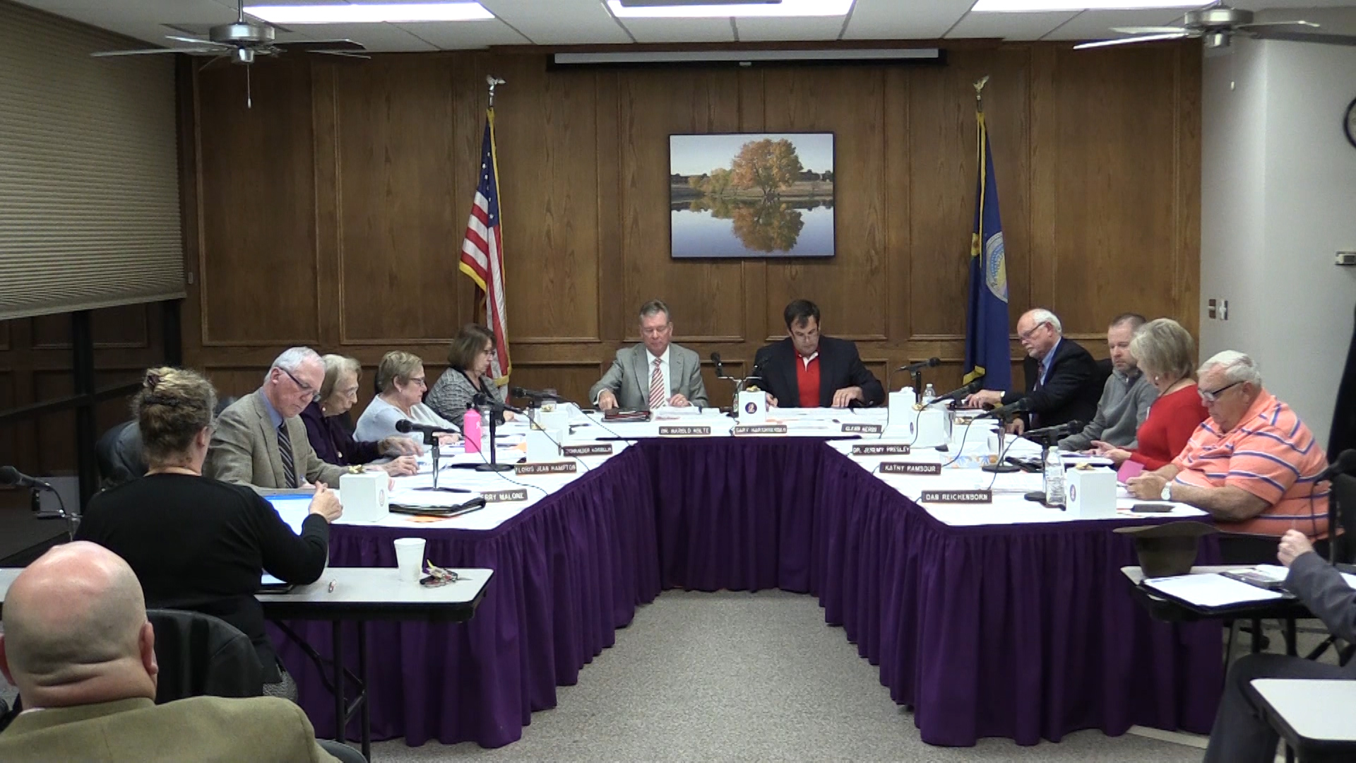 The DC3 Board of Trustees during their December Board Meeting.