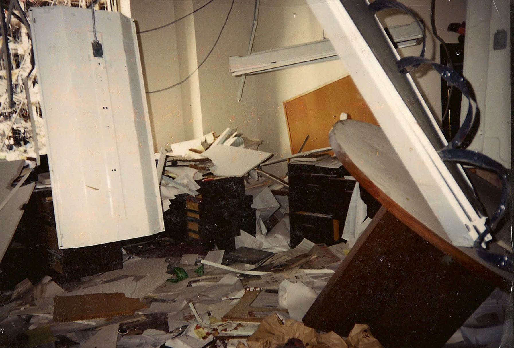 Photo of Dr. Forgey's office after the Oklahoma City bombing