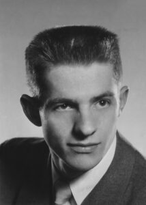 A photo of Bradley Deck the DC3 student who wrote the DC3 alma mater.