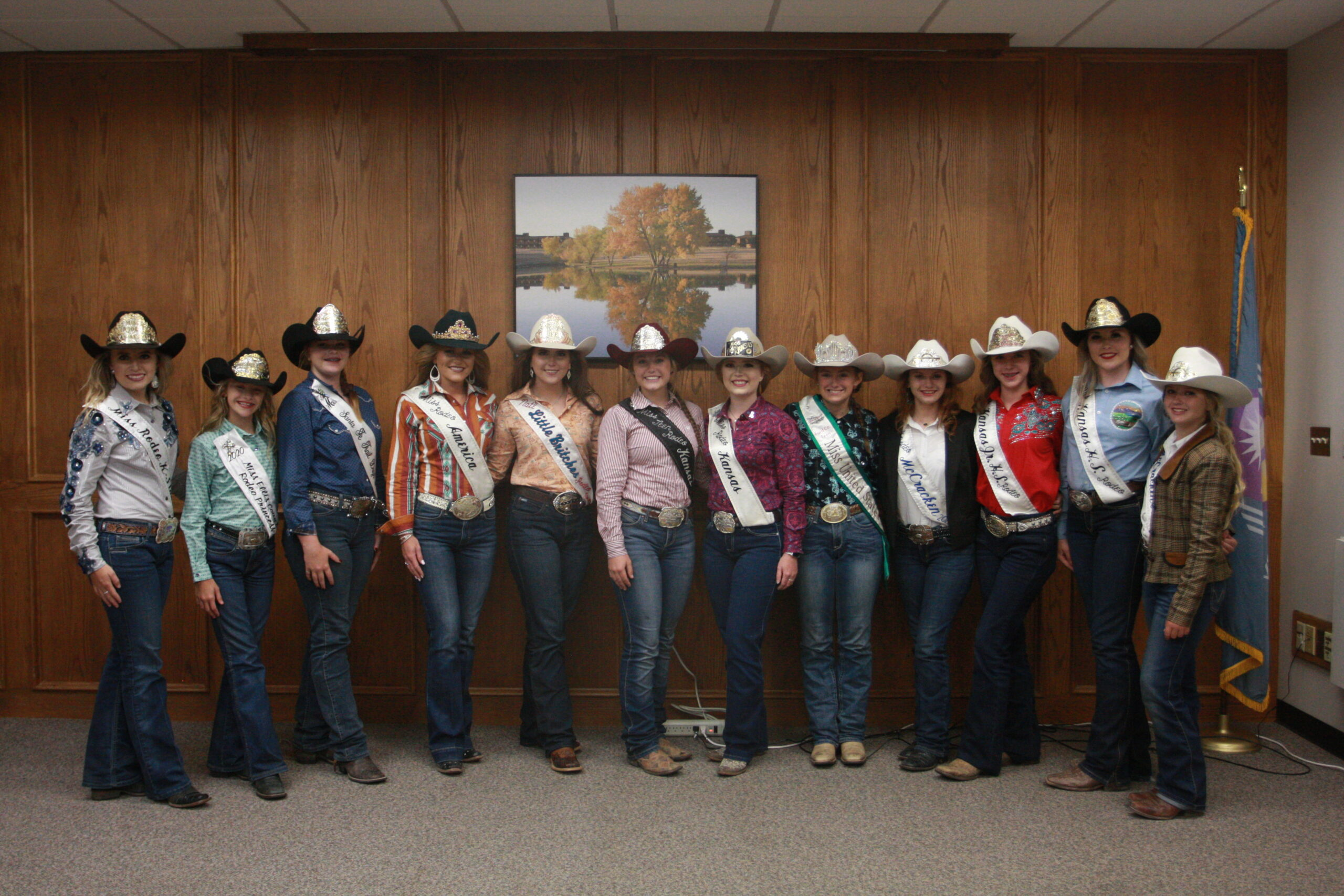Participants in the Miss Rodeo Kansas pose for a group photo