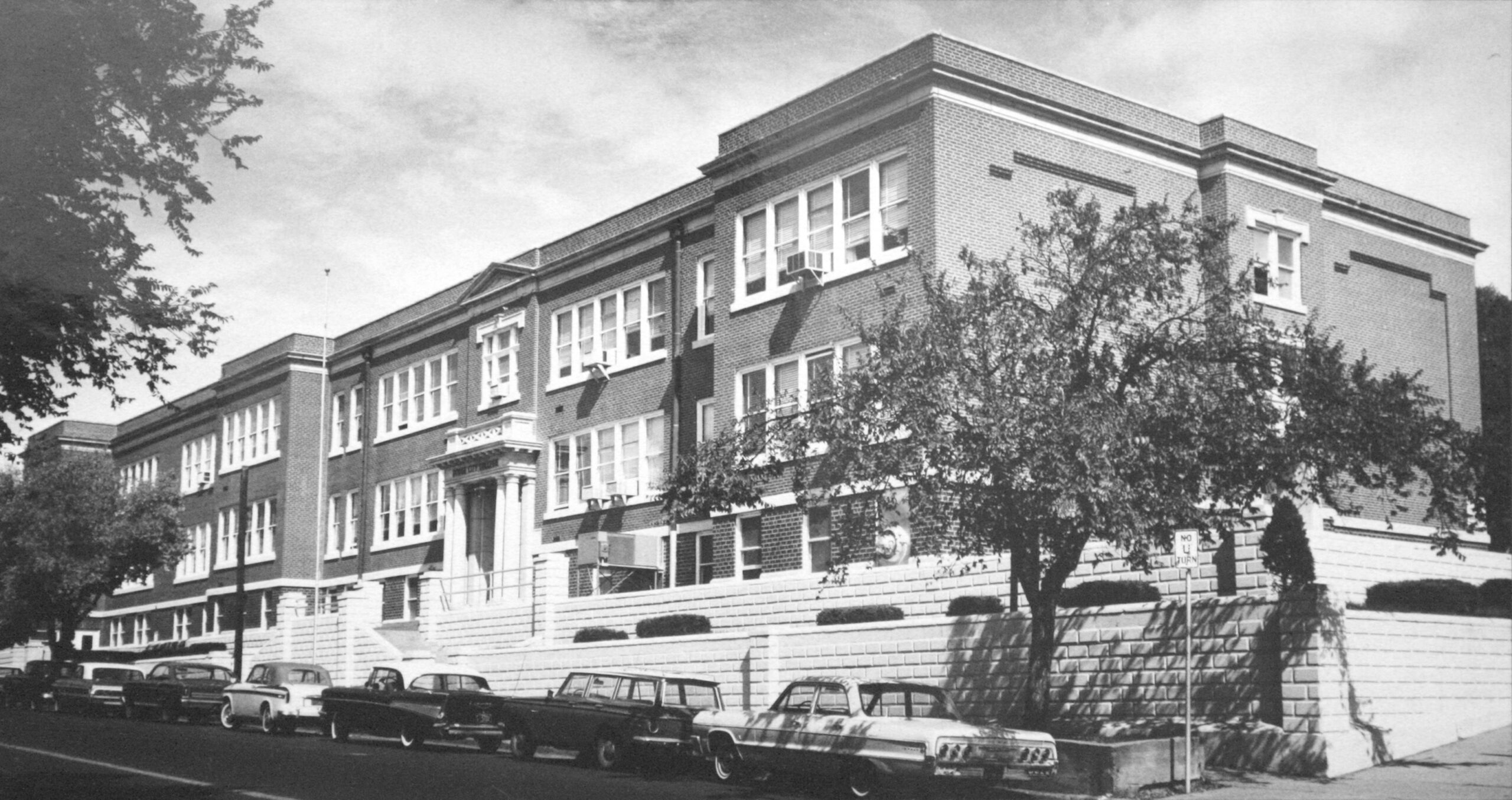 Building at 1000 N. Second Ave. as it appeared in the 1950s