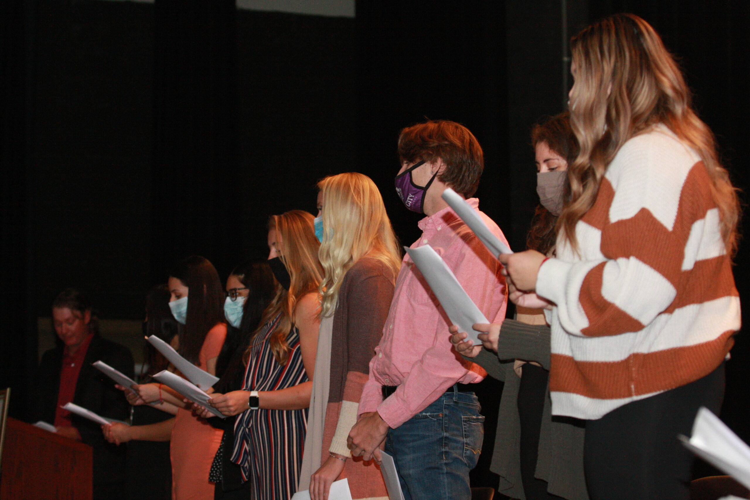 New inductees of PTK take the pledge
