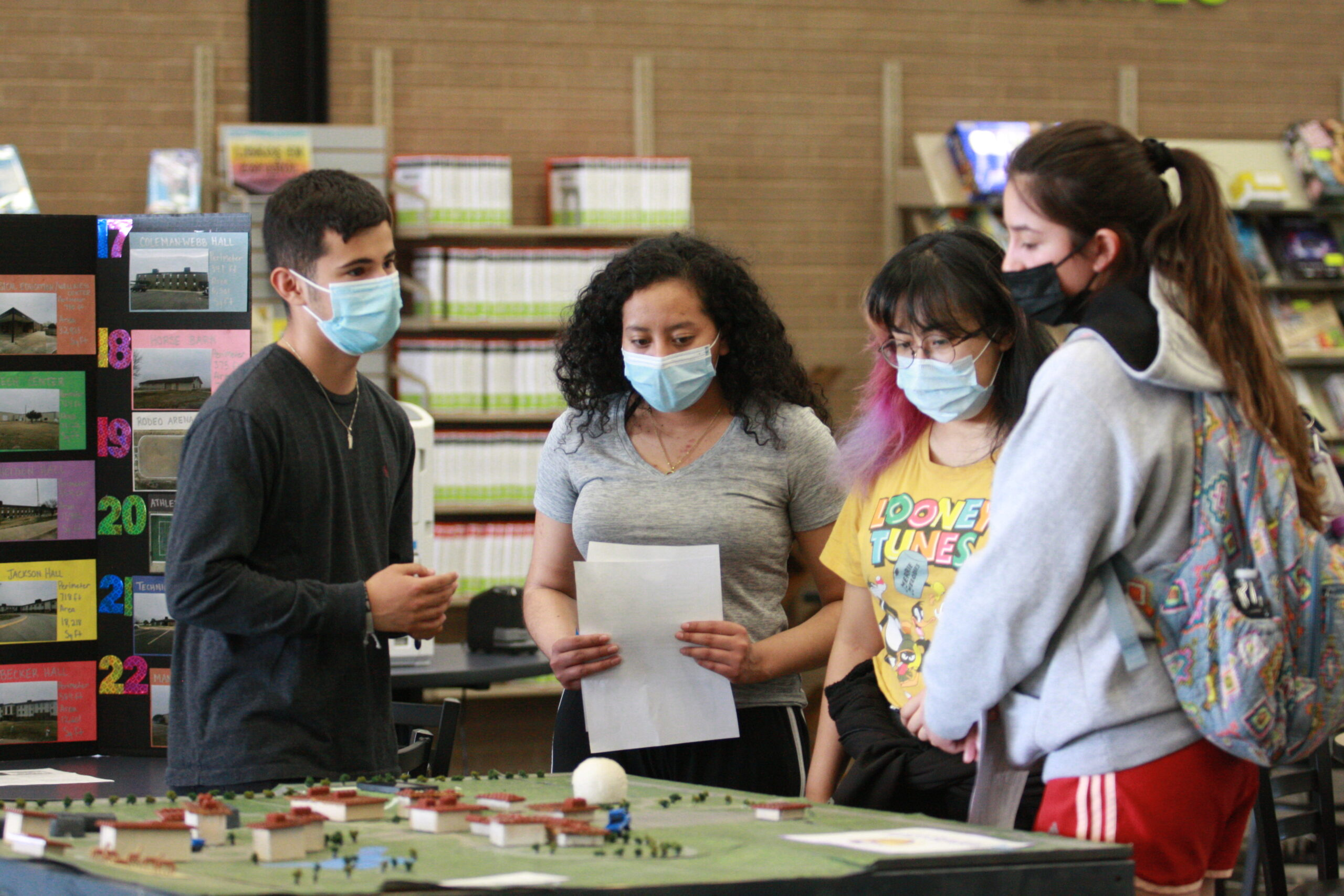 STEM students demonstrate their projects during the 2021 STEM Projects Poster Session