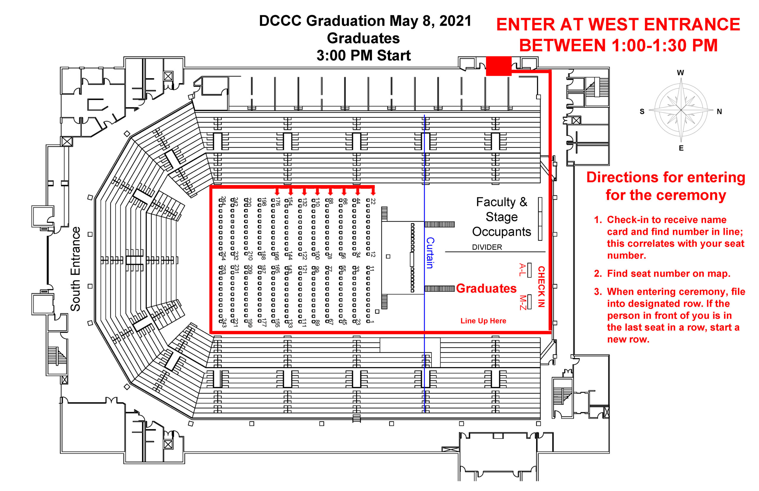 United Wireless Arena Entrance Instructions Map